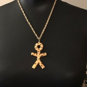 Vintage Gold and Stone Necklace